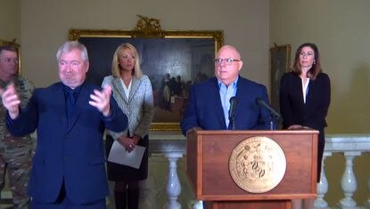 Maryland Gov. Larry Hogan gives update on coronavirus and it's impact on Maryland, calling on nonessential businesses to close, a policy similar to what other states have termed sheltering in place.