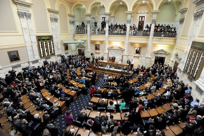 The Maryland House of Delegates in Annapolis.
