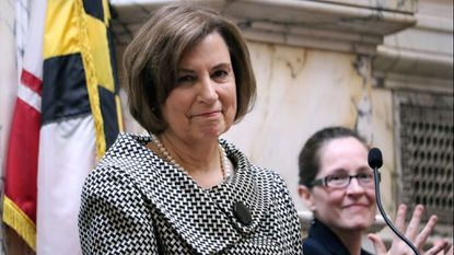 Maryland Chief Judge Mary Ellen Barbera, who is the head of Maryland's highest court, delivers her State of the Judiciary Address to a joint session of the Maryland General Assembly on Wednesday.