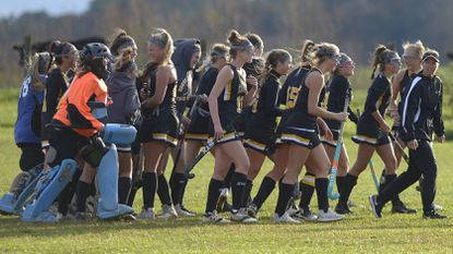 South Carroll players walk off the field following their 3-0 win over FSK in Uniontown Monday, October 29, 2018.
