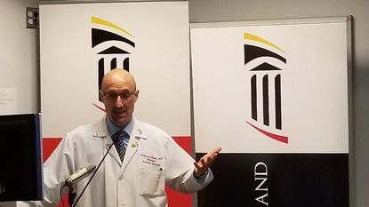 Dr. William F. Regine is chair of radiation oncology at the University of Maryland School of Medicine. He and Cedric Yu, a clinical professor of radiation oncology at the university, created the GammaPod machine, which delivers strong doses of radiation more precisely to tumors.