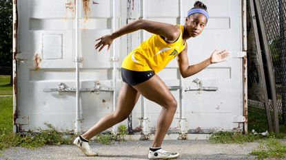 River Hill sprinter Sydney Robinson in the 2018 girls outdoor track and field Athlete of the Year.