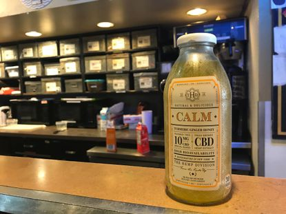 CBD teas from a New York firm are on sale at City Dock Coffee in Annapolis, despite an advisory from the county Health Department against it.