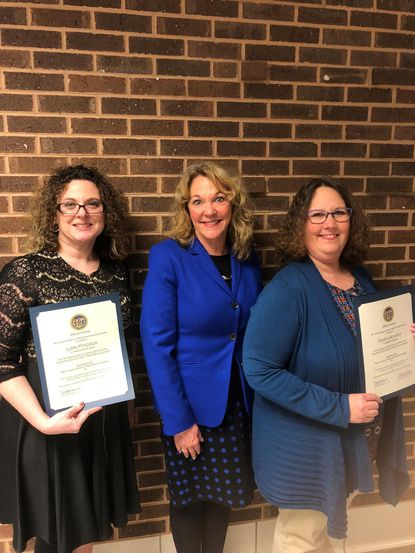 Drista Bowser, right, is pictured with with fellow GATES program graduate Lori Pitcock, left, from Cecil County; and Dr. Jeanne Paynter, Curriculum and Instruction Graduate and Professional Studies at McDaniel College. - Original Credit: Courtesy Photo