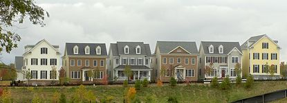 Houses in Maple Lawn are closer together and closer to the street to foster community.