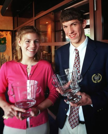 The 2001 Baltimore Sun High School Athletes of The Year: Kelsey Twist of Roland Park and Michael Phelps of Towson.