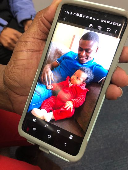 Michael Wise III, pictured with his daughter, was killed while taking his daughter trick-or-treating on Halloween night. Anne Arundel County Police announced a $10,000 award for any information on the county's four unsolved murders at a press conference.