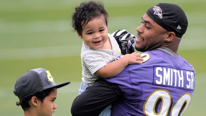 Family first: For Ravens' Steve Smith Sr., 'being a dad is the most important thing'