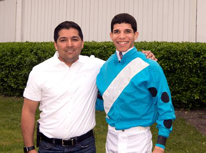 Journeyman Jorge Vargas Jr., right, riding his first full meet in Maryland, and Claudio Gonzalez, the state's leading trainer in 2017, were each crowned meet champions on closing day of Laurel Park's 60-day winter-spring stand Sunday.
