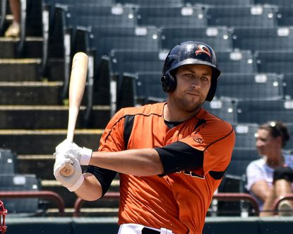 Ryan Ripken, pictured with the Bowie Baysox in 2019, was invited to major league spring training camp with the Orioles.