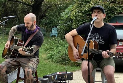 Local indie rock band BLOOMR perform at the Pink & Blues Music Foundation walk-through concert earlier this month in Knollwood.