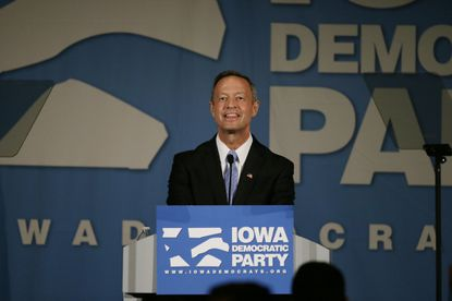 Democratic presidential candidate former Maryland Gov. Martin O'Malley speaks during the Iowa Democratic Party's Hall of Fame Dinner, Friday, July 17, 2015, in Cedar Rapids, Iowa. (AP Photo/Charlie Neibergall) ORG XMIT: IACN1