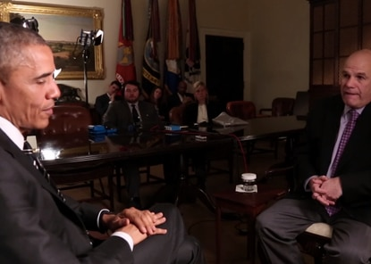 """Watch President Obama interview David Simon about """"The Wire."""" Yes, really."""