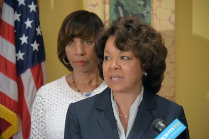 Michelle Pourciau (right) was appointed director of Baltimore's Department of Transportation in June by Mayor Catherine Pugh (left).
