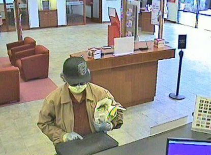 Bank photo shows robber of the Bank of America on East Ocean Air Drive in San Diego.
