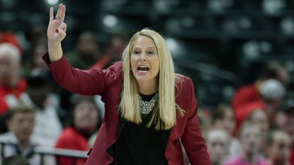 There's no such thing as one and done in the NCAA Tournament for Maryland coach Brenda Frese, whose Terrapins are 15-0 in first-round games heading into Saturday's opener against Radford. (AP Photo/Michael Conroy, File)