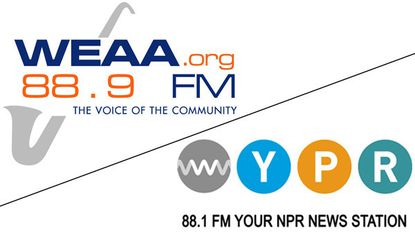 WEAA and WYPR logos