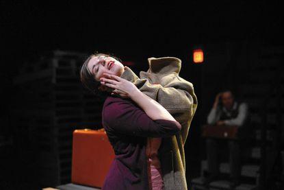 "Lauren Saunders in ""Something Like Jazz Music"" at Single Carrot Theatre."