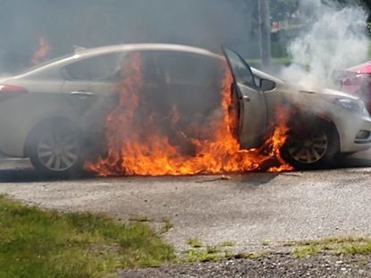 The Reese fire company responded to a vehicle fire at Md. 140 and Reese Road on Monday, according to an Office of the State Fire Marshal news release.