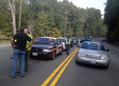 Harford and Baltimore County officers pulled over drivers for violating cell phone and seat belt laws on Route 1.