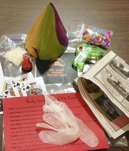 """The Carroll Arts Center will be selling audience participation kits that include rice, rubber gloves, a newspaper and other items for its annual screening of """"The Rocky Horror Picture Show."""""""