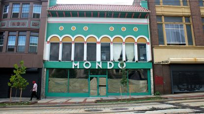 The first building of the Le Mondo arts complex in downtown Baltimore is called Mondo. A local film series called Mondo Baltimore wants the name changed.