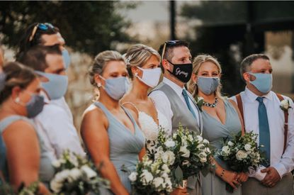 Ashley Smoley and her husband Kevin got married at Eagle'as Nest Country Club in Baltimore County July 17. About 80 guests attended, Smoley said, and attendees were asked to wear masks indoors when they weren't eating or drinking. As far as she knows, no one who attended the wedding has since tested positive for COVID-19, Smoley said. - Original Credit: Handout