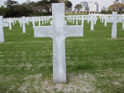 The unknown soldier grave site of Richard Murphy at the Manila American Cemetery at suburban Taguig city, east of Manila, Philippines.