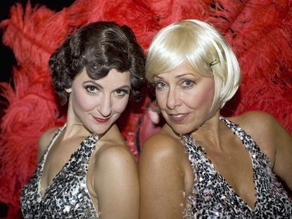 Debra Buonoccorsi, left is Velma and Carole Grahalm Lehan is Roxie in the new staging of Bob Fosse's 'Chicago, the Musical,' now at Toby's Dinner Theatre in Columbia through Nov. 6.