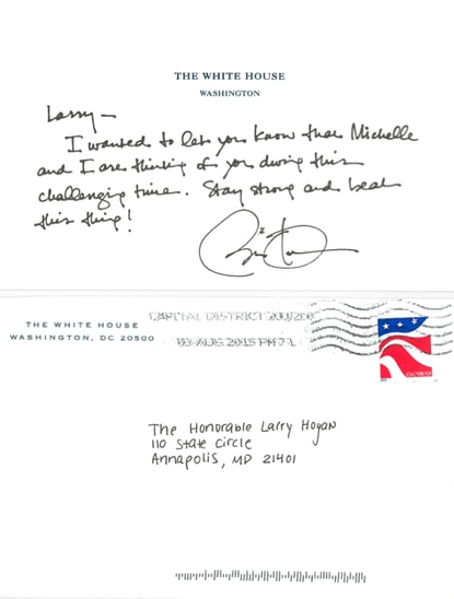 Gov. Hogan outpouring includes handwritten note from President Obama