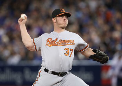 Orioles relieverDylan Bundy delivers a pitch in the sixth inning against the Toronto Blue Jays on June 9, 2016 at Rogers Centre in Toronto, Ontario, Canada.