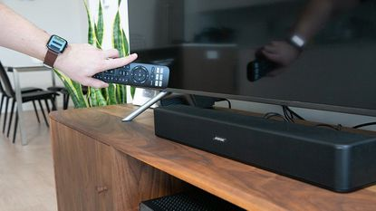 For improved sound quality, flat screen TVs often need external speakers or a soundbar, purchased separately.