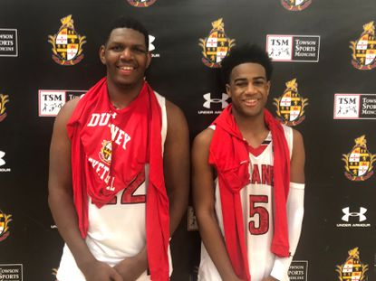 Cameron Byers, left, and Ryan Conway helped lead Dulaney to a victory over Milford Mill on Wednesday night.