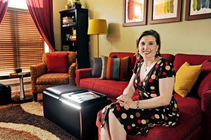 Danielle LeClair in her living room.