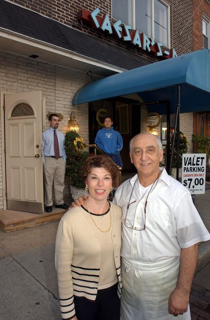 Tina amd Guido De Franco, owner of Caesar's Den in Little Italy, in a 2003 photo