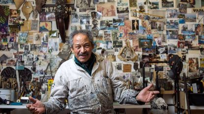Jack Whitten in his studio in 2016. The artist, whose works will be on display at the Baltimore Museum of Art, died in January.