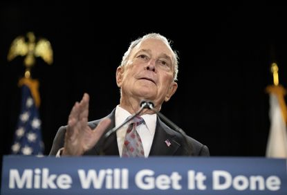 Democratic presidential candidate and former New York City Mayor Michael Bloomberg speaks at a campaign event Wednesday, Feb. 5, 2020, in Providence, R.I.