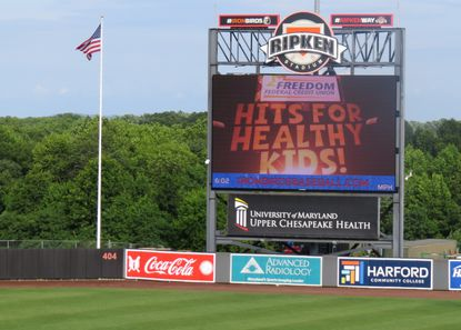 The big screen will be alive with Toy Story 4 early next month at Leidos Field at Ripken Stadium.