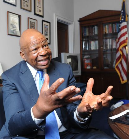 Washington, D.C., MD-4/22/14-Baltimore Rep. Elijah E. Cummings is pictured in his office in the Rayburn House Office Building. He has emerged as one of his party's top defense players after more than two years opposite Darrell Issa on the House Oversight Committee. Algerina Perna/Baltimore Sun--#877.