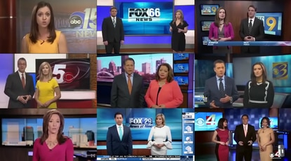 """Deadspin compiled a video of Sinclair Broadcast Group news anchors delivering a message about biased news """"plauging our country."""""""