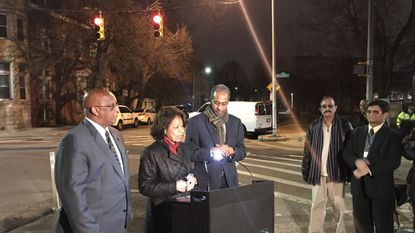 Neighbors toast new traffic light in North Baltimore after grassroots campaign for installation