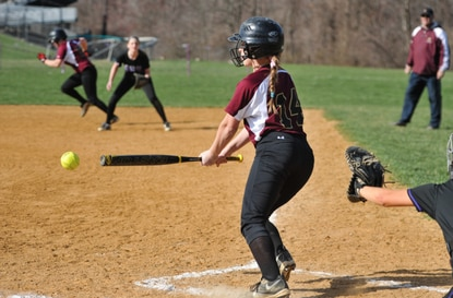 Hammond's Kelly Smith, seen in this file photo from earlier this year, went 3-4 with 5 RBI on Thursday to help lead the Golden Bears to a 19-9 victory over Oakland Mills.