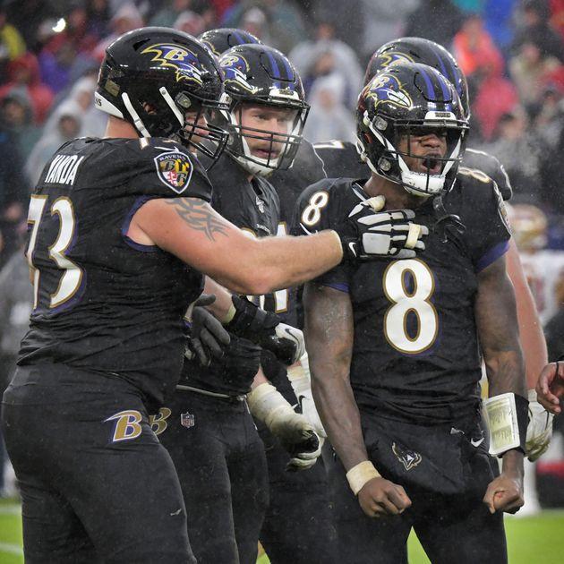 Ravens offensive linemen Rolex watches