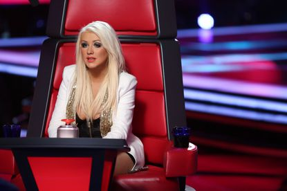 """Christina Aguilera dispenses wisdom and judgement on """"The Voice."""" She has so much to give."""
