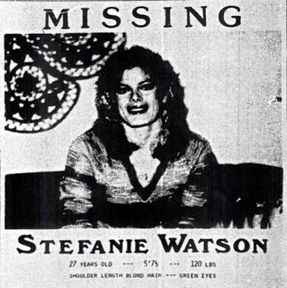 Missing person poster for Stefanie Watson