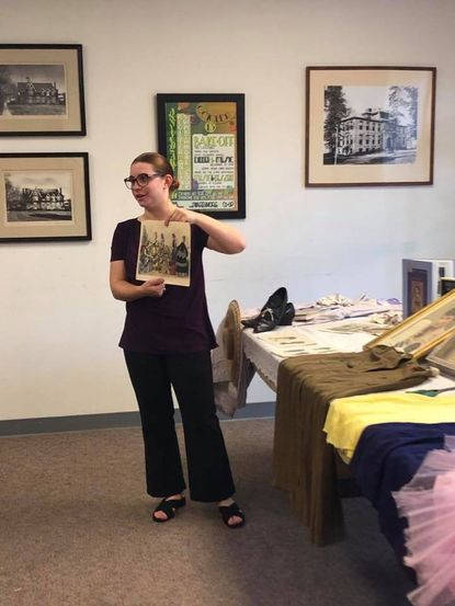 Rachel McCullough, founder of the Traveling Women's History Museum, is the featured speaker this month for the Laurel Museum Speaker series.