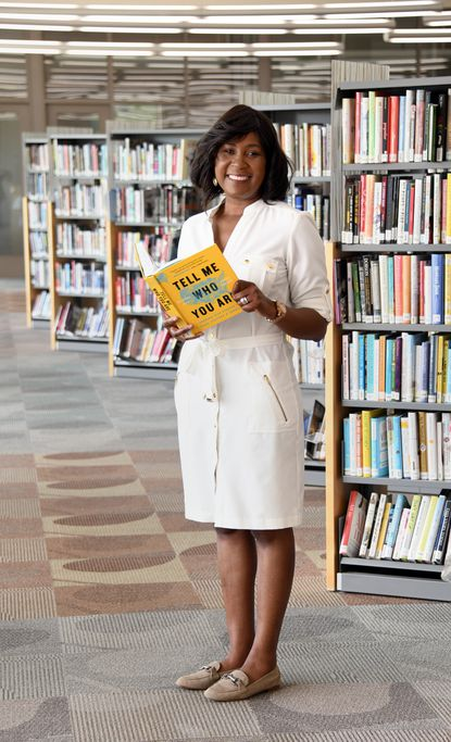 Tonya Aikens, president and CEO of the Howard County Library System, at the Miller Branch of the Howard County Public Library.