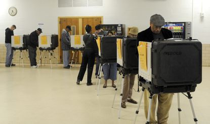 A scene from early voting ahead of the 2012 general election.