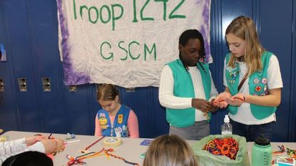 For World Thinking Day, Girl Scouts go international
