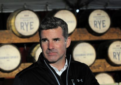 Baltimore, MD -- Kevin Plank, founder and CEO of Under Armour, at October's groundbreaking for Sagamore Spirit, a new Baltimore-based whiskey distillery he established.